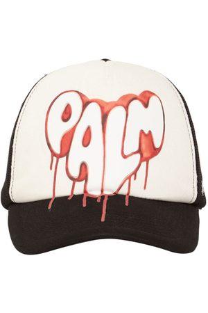 Palm Angels Men Caps - Spray Heart Trucker Cap W/ Mesh
