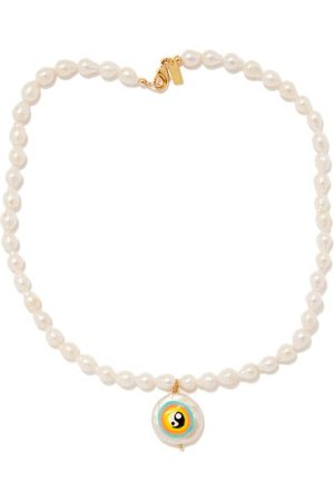 Martha Calvo Oasis Pearl & 14kt Gold-plated Necklace - Womens - Pearl