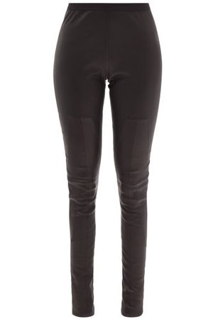 Rick Owens High-rise Panelled-leather Leggings - Womens