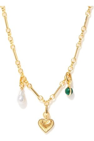 Missoma Pearl, Malachite & 18kt -plated Necklace - Womens - Multi