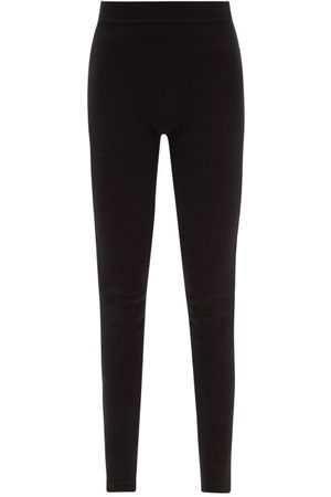 Rick Owens Ribbed-waist Cashmere-blend Leggings - Womens