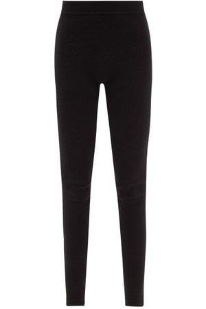 Rick Owens Women Sweats - Ribbed-waist Cashmere-blend Leggings - Womens