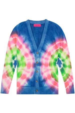 THE ELDER STATESMAN Women Cardigans - Olympus Tie-dyed Cashmere Cardigan - Womens - Multi