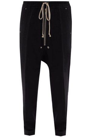 Rick Owens Deep-rise Cotton-blend Jersey Track Pants - Mens