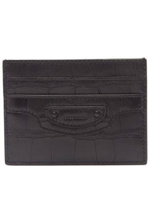 Balenciaga Neo Classic Croc-embossed Leather Cardholder - Mens