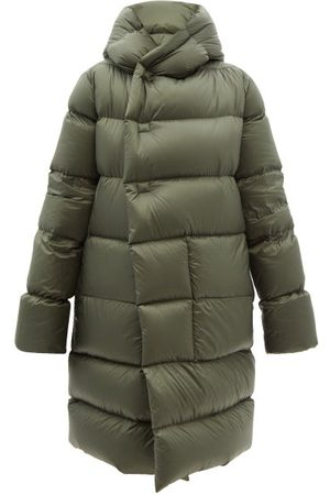 Rick Owens Women Jackets - Wrap-front Hooded Quilted Down Coat - Womens - Khaki