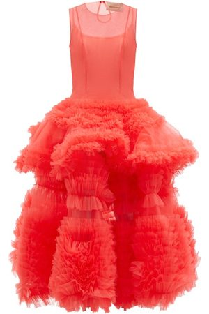Molly Goddard Yetunde Tiered Tulle Midi Dress - Womens