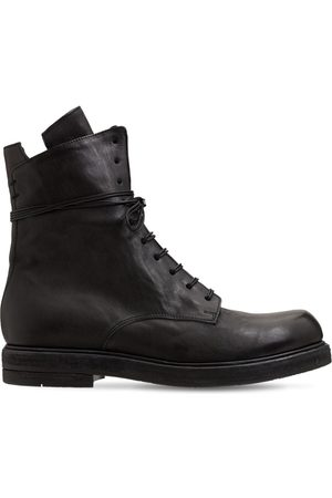 ERNESTO DOLANI Men Lace-up Boots - Bruto Leather Lace Up Boots