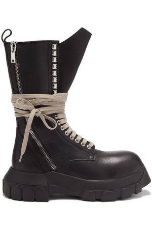 Rick Owens Tractor Lace-up Grained-leather Boots - Womens