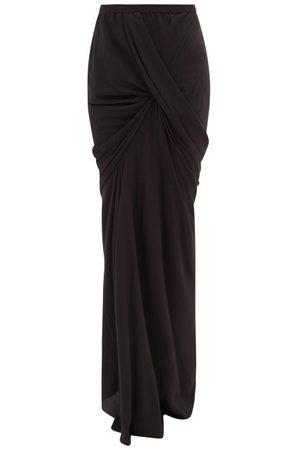Rick Owens Women Maxi Skirts - Seb Draped Jersey Maxi Skirt - Womens