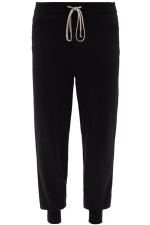 Rick Owens Drawstring-waist Wool-blend Track Pants - Mens
