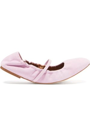 MALONE SOULIERS Cher Suede Ballet Flats - Womens - Light
