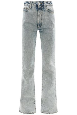 Alessandra Rich High-rise Acid-wash Flared Jeans - Womens - Light