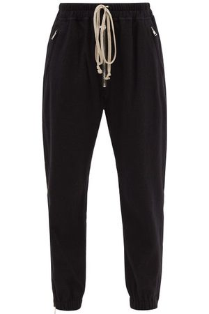 Rick Owens Women Sweatpants - Drawstring Wool-blend Flannel Sweatpants - Womens