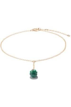 YVONNE LÉON Diamond, Malachite & 9kt Gold Ankle Bracelet - Womens