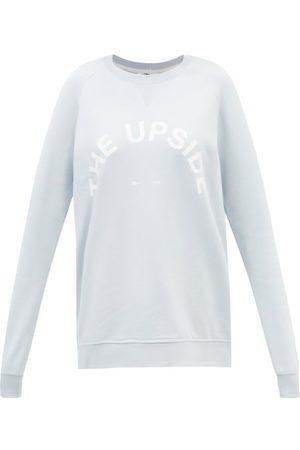 The Upside Women Sweatshirts - Bondi Logo-print Cotton-jersey Sweatshirt - Womens - Light