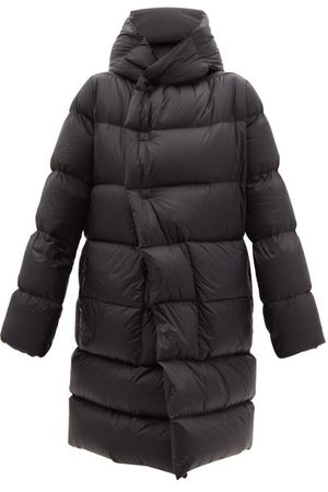 Rick Owens Women Jackets - Wrap-front Hooded Quilted Down Coat - Womens