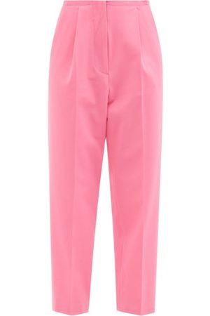 MM6 MAISON MARGIELA Raw-edge Single-pleat Tailored Trousers - Womens