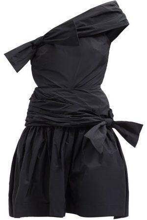 Molly Goddard Meredith Bow One-shoulder Taffeta Mini Dress - Womens