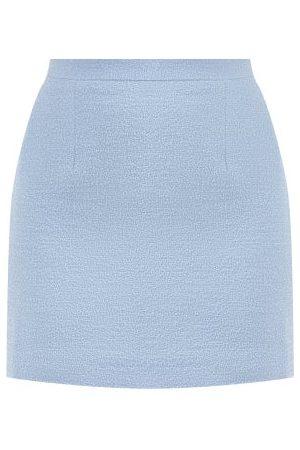 Alessandra Rich Virgin-wool Bouclé Mini Skirt - Womens - Light