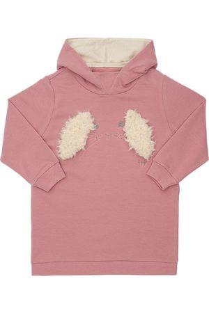 Il gufo Girls Dresses - Rabbit Embroidery Hooded Sweat Dress