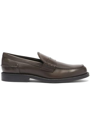 Tod's Leather Penny Loafers - Mens - Dark