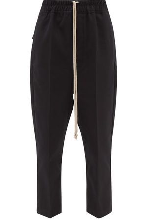 Rick Owens Drawstring Cropped Recycled-fibre Twill Trousers - Womens