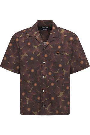 Jacquemus Men Shirts - La Chemise Jean Printed Cotton Shirt