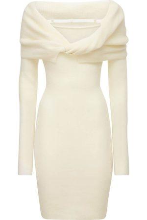 Jacquemus La Robe Ascua Mohair Blend Knit Dress