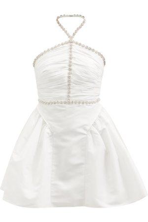 Self-Portrait Women Party Dresses - Portrait - Diamanté-embellished Taffeta Mini Dress - Womens