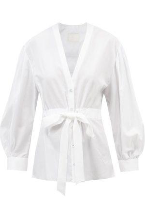 Erdem The Robe Floral-jacquard Cotton-poplin Shirt - Womens