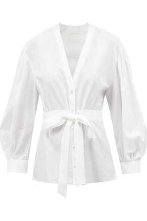 Erdem Women Bathrobes - The Robe Floral-jacquard Cotton-poplin Shirt - Womens
