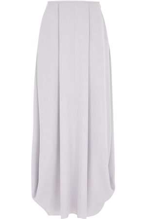 Armani Georgette Asymmetric Silk Long Skirt