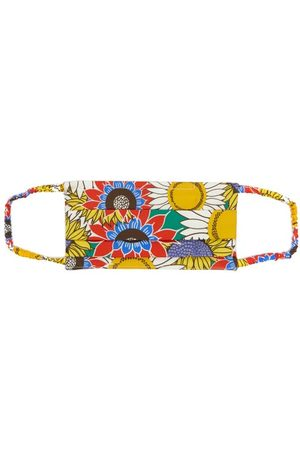 Borgo De Nor Women Luggage - Sunflower-print Cotton Face Covering - Womens