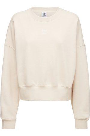 adidas Women Sweatshirts - Cotton Blend Sweatshirt