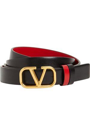 VALENTINO GARAVANI Women Belts - 20mm Reversible V Logo Leather Belt
