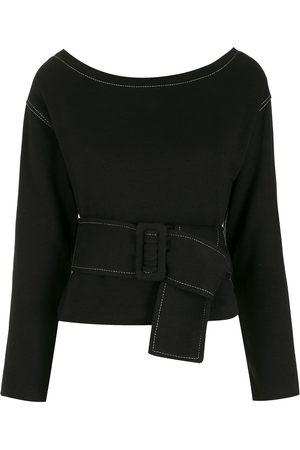 Andrea Bogosian Belted waist blouse