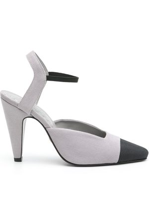 Andrea Bogosian Women Heeled Pumps - Vydia cone-heeled pumps - Grey