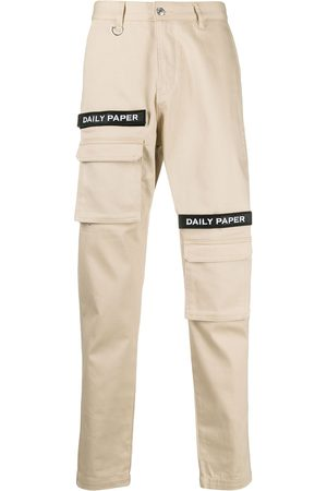 Daily paper Men Skinny Pants - Logo-embellished slim-fit trousers - Neutrals