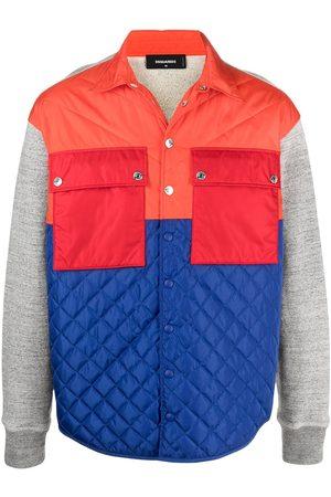 Dsquared2 Men Jackets - Flap-pocket quilted jacket