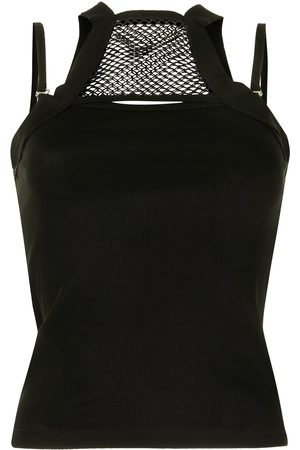DION LEE Net holster panelled tank top