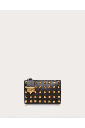 VALENTINO GARAVANI Women Purses - Rockstud Coin Purse And Cardholder In Grainy Calfskin Leather With All-over Studs Women 100% Pelle Di Vitello - Bos Taurus OneSize