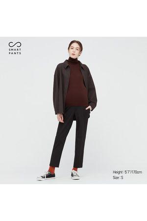 UNIQLO Women Stretch Pants - Women's Maternity Smart 2-Way Stretch Solid Ankle-Length Pants, , XXS