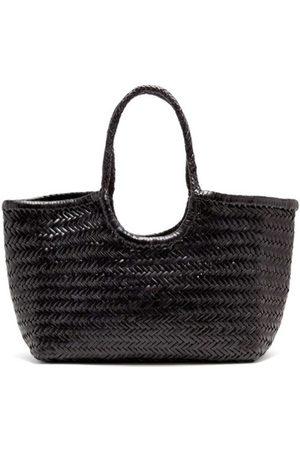 Dragon Diffusion Nantucket woven-leather basket bag