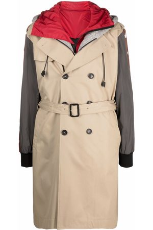 Dsquared2 Men Trench Coats - Layered trench coat - Neutrals