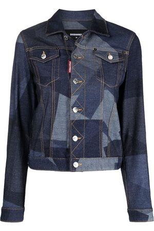 Dsquared2 Geometric-print denim jacket