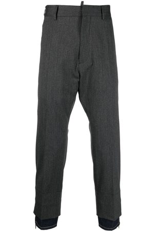 Dsquared2 Men Formal Pants - Layered-detail tailored trousers - Grey