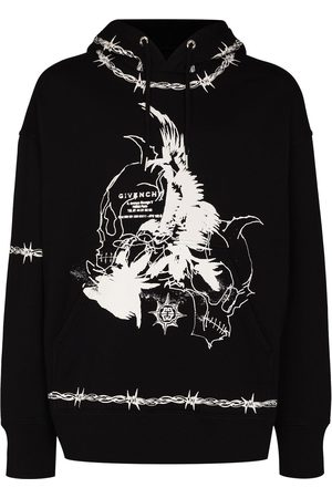 Givenchy Gothic print hooded sweatshirt