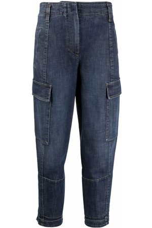 Brunello Cucinelli Women Tapered - Tapered cropped jeans