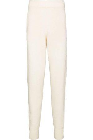 THE ELDER STATESMAN Heavy cashmere track pants - Neutrals